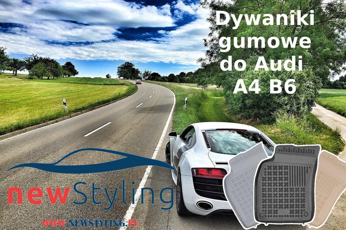 Dywaniki gumowe do audi A4 B6