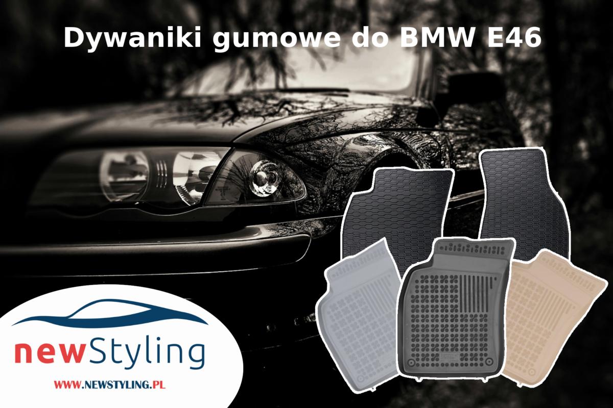 Dywaniki gumowe do BMW E46