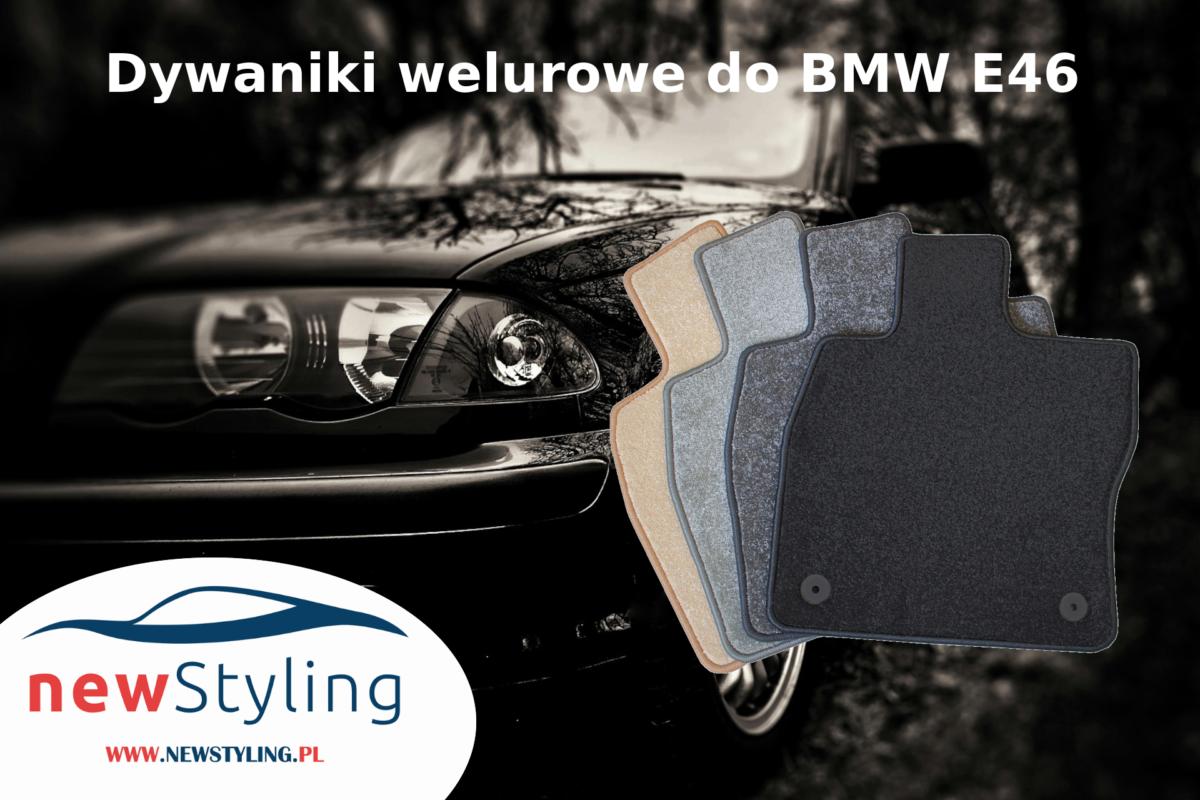 Dywaniki welurowe do BMW E46