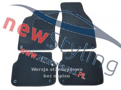 dywaniki welurowe do Audi A6 C6 dywaniki samochodowe dywaniki welurowe